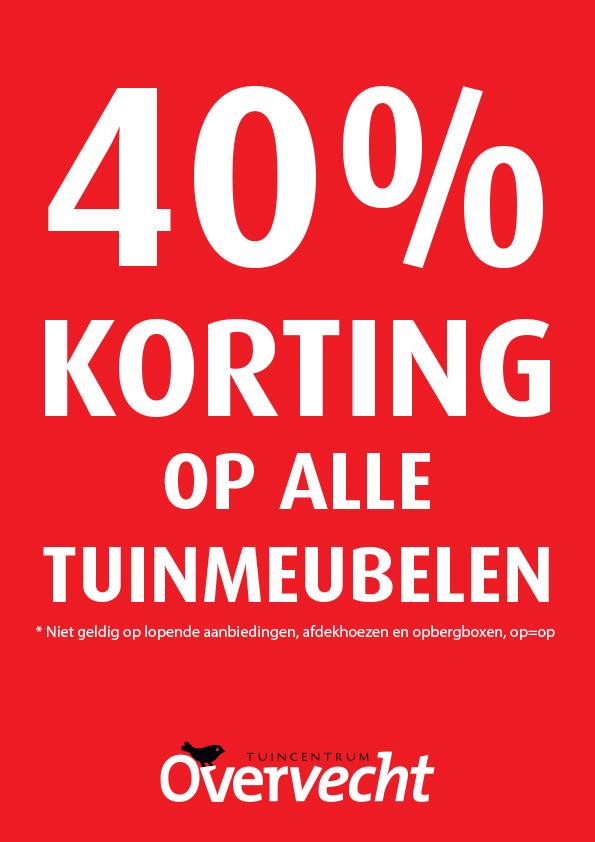 40% korting op alle tuinmeubelen